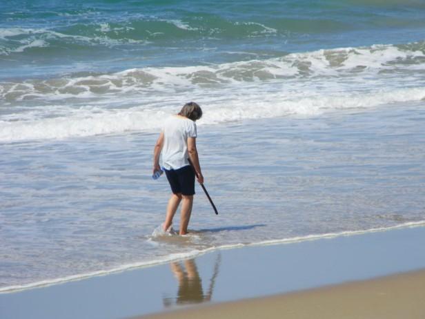 Testing the waters on Elysium Beach