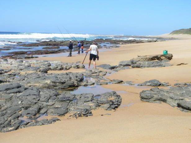 Fishermen on the Mtwalume beach