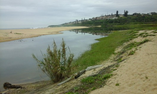 Mtwalume river mouth in the dry season