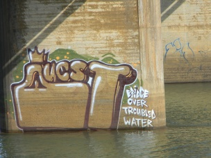 Graffiti on the Mtwalume train bridge