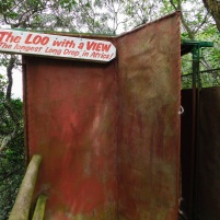 Longdrop loo at the top of the suspension bridge - Lake Eland Nature Reserve