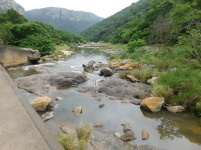 Low cement crossing over the Umzimkulwane River at Nkonkapoint in the basin of the Oribi Gorge