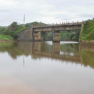 Railway bridge over the Mvusi river