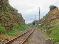 Railway cutting on the Ifafa side
