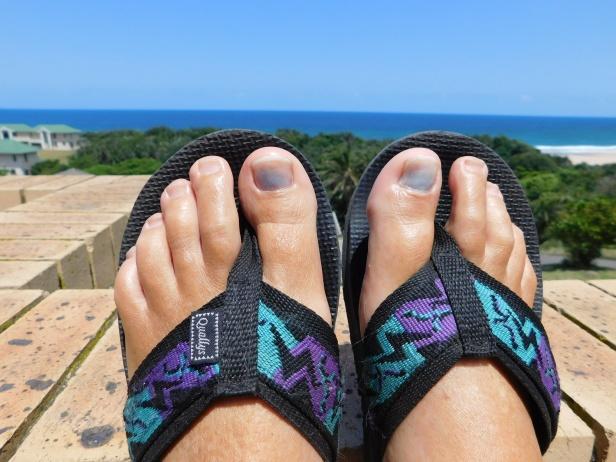 My poor toenails after suffering a grueling nine-kilometer hike