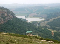 View of the Oribi Gorge from the top of the plateau at Lake Eland Nature Reserve