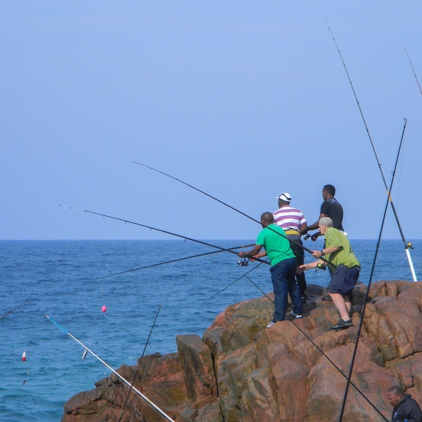 Enthusiastic fishermen
