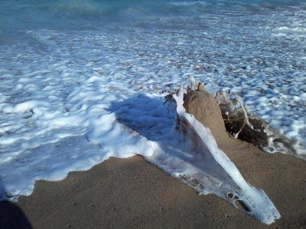 Sandcastles at high tide, Elysium, KwaZulu-Natal