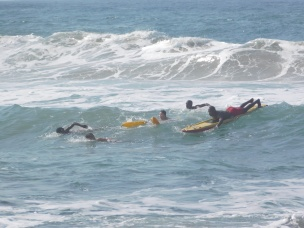 Learning to surf with the lifeguards in the Southcoast KZN