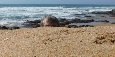 Hiding behind the sandbank